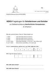 Schülerfragebogen Klasse 4-8 - Hamburg