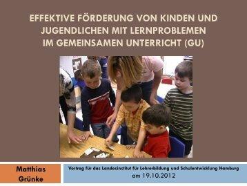 Vortrag von Prof. Dr. Matthias Grünke, Uni Köln, am 17.10.2012 in ...