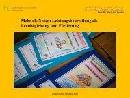 Mehr als Noten: Leistungsbeurteilung - Hamburg