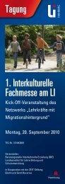 Veranstaltungsflyer (PDF 450 KB) - Landesinstitut für Lehrerbildung ...
