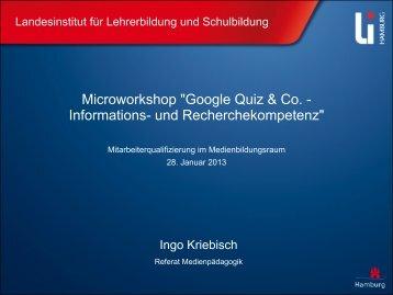 Medienbildungsraum Google - Landesinstitut für Lehrerbildung und ...