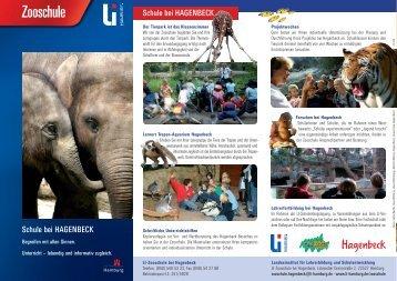 Zooschule bei Hagenbeck - Begreifen mit allen Sinnen