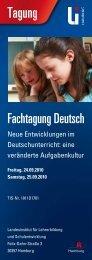 Tagungsflyer (PDF 271 KB) - Landesinstitut für Lehrerbildung und ...
