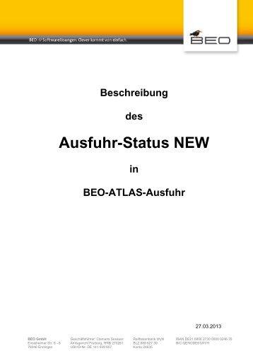 Ausfuhr-Status NEW