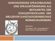 Gelungene Sprachförderprojekte an Hamburger Schulen
