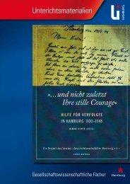 """Handreichung """"Hilfe für Verfolgte in Hamburg 1933-1945"""""""