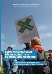 Gemeinsam handeln: für Demokratie in unserem Gemeinwesen! - BBE