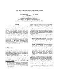 Large scale, type-compatible service composition - Artificial ...