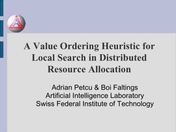 Presentation - Artificial Intelligence Laboratory - EPFL