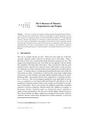 The Coherence of Theories – Dependencies and Weights - Artificial ...