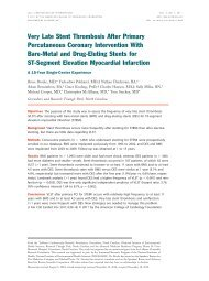 Very Late Stent Thrombosis After Primary Percutaneous Coronary ...
