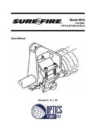 Model M16 Mount - OpticsPlanet.com