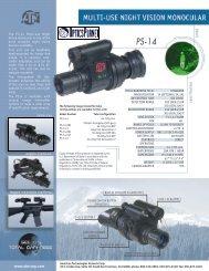 ATN PS14-4 Night Vision Monocular Spec Sheet - OpticsPlanet.com