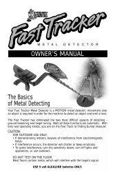 OWNER'S MANUAL The Basics of Metal Detecting