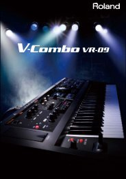 V-Combo VR-09 Catalog - Roland