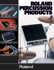 spd-s sampling pad spd-20 total percussion pad spd-6 ... - Roland