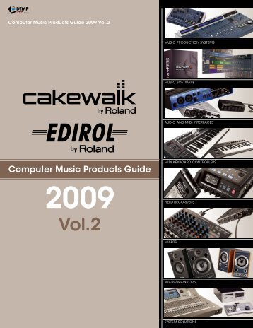 Computer Music product Guide 09 Vol.2 - Roland