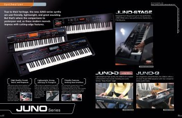 True to their heritage, the new JUNO-series - Roland