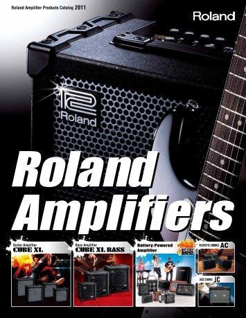 Roland Amp Catalog 2011