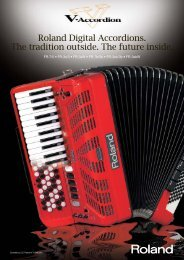 Roland Digital Accordions. The tradition outside. The future inside.