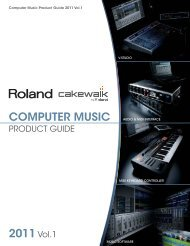 Computer Music Product Catalog 2011 vol.1 - Roland