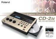 CD-2u/SD-2u Catalog - Roland