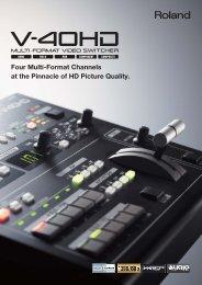 V-40HD Brochure - Roland