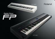 FP-80/FP-50 Catalog - Roland