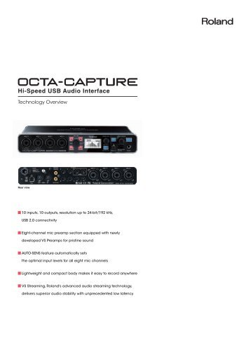 OCTA-CAPTURE Technology Overview - Roland