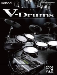 Roland V-Drums Catalog 2008 Vol.2