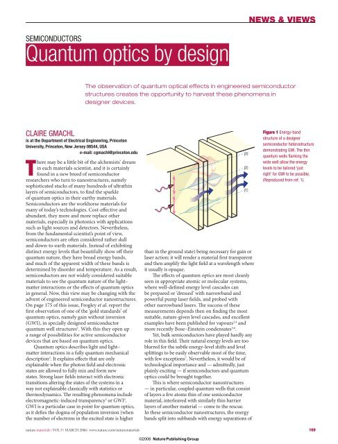 SEMICONDUCTORS Quantum optics by design