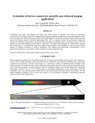 Evaluation of InGaAs camera for scientific near infrared imaging ...