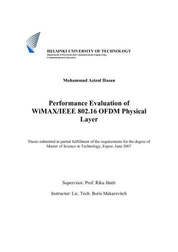 Performance Evaluation of WiMAX/IEEE 802.16 OFDM ... - Aaltodoc