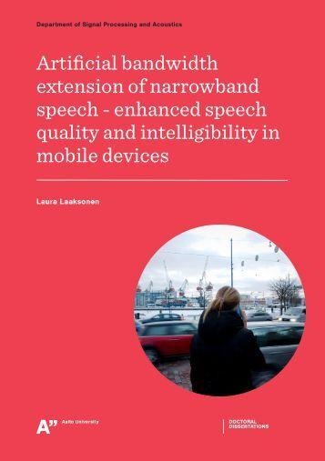 Artificial Bandwidth Extension of Narrowband Speech