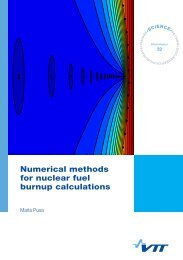 Numerical methods for nuclear fuel burnup calculations