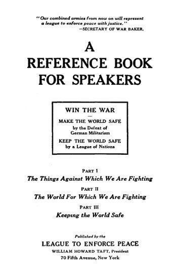 A REFERENCE BOOK FOR SPEAKERS