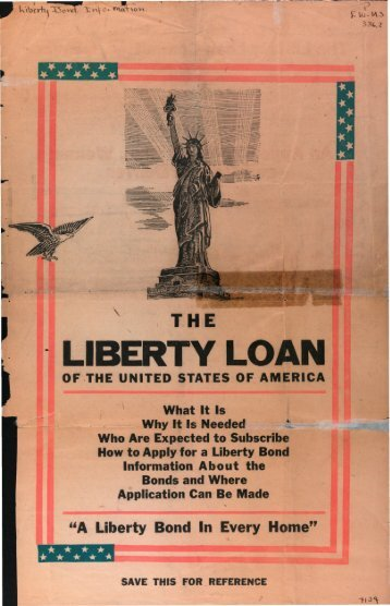 """""""A Liberty Bond In Every Home"""""""