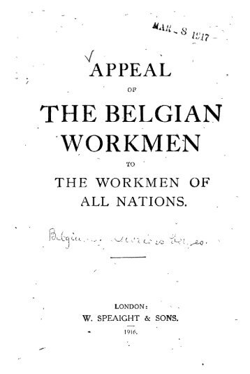 THE BELGIAN WORKMEN