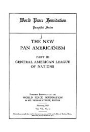 THE NEW PAN AMERICANISM