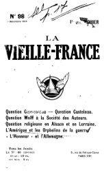 Question Castelnau. Question Wolff à la Société des Auteurs ...