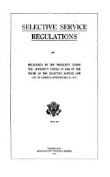 Selective service regulations prescribed by the President