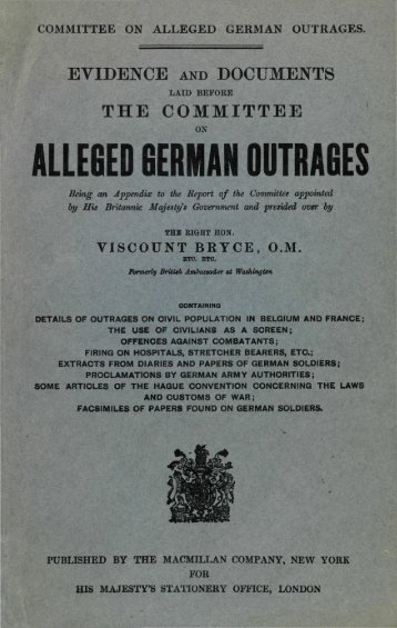 ALLEGED GERMAN OUTRAGES