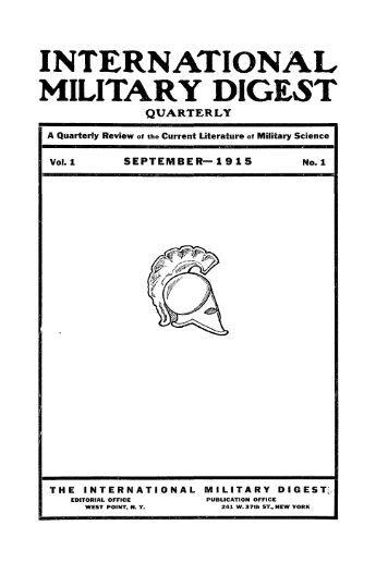 International military digest, quarterly