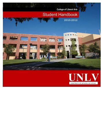Student Handbook - College of Liberal Arts - University of Nevada ...