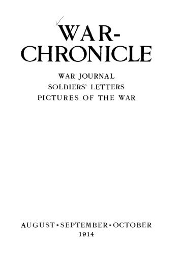 WAR- CHRONICLE
