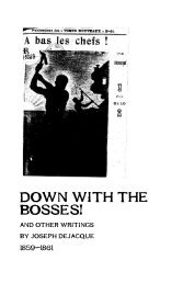 Down with the Bosses! - The Libertarian Labyrinth