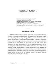 EQUALITY, NO. I. - The Libertarian Labyrinth