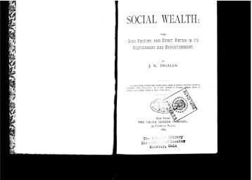 SOCIAL WEALTH: - The Libertarian Labyrinth