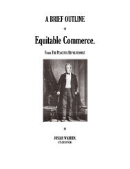 Equitable Commerce. - The Libertarian Labyrinth