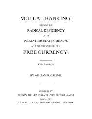Mutual Banking - The Libertarian Labyrinth